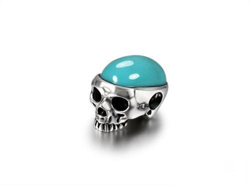 Turquoise carved crystal skull pendant solid silver jewelry s246 crystal skull mozeypictures Images
