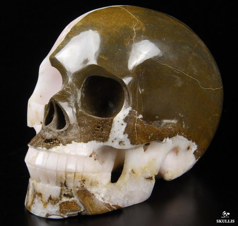 Huge 5 0 Quot Pink Aragonite Carved Crystal Skull Realistic